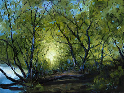 Art Print featuring the painting Into The Light by Billie Colson