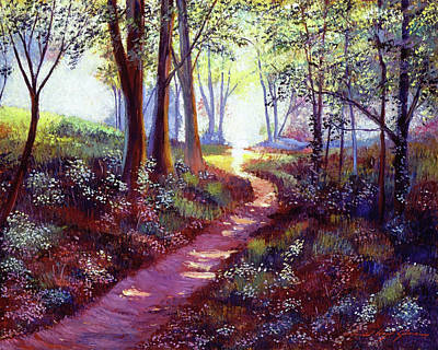 Painting -  Into The Light by David Lloyd Glover