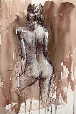 Nude Back Painting - Into The Light by Julie Fernandez