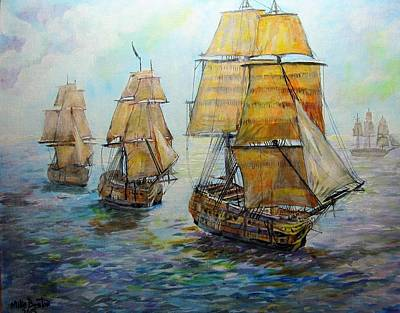Painting - Into The Mediterranean by Mike Benton