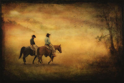 Into The Mist Art Print by Priscilla Burgers