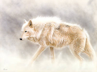 Airbrush Painting - Into The Mist by Sandi Baker
