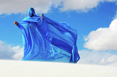 Lady In Blue Photograph - Into The Mystic 28 by Bob Christopher