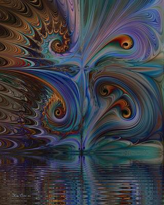Art Print featuring the digital art Into The Mystic by Kim Redd