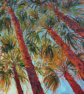 Palms Painting - Into The Palms - Diptych Right Panel by Erin Hanson
