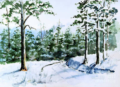 Painting - Into The Snowy Woods by Pattie Calfy