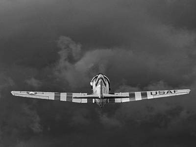 Photograph - Into The Storm In Black And White by Chris Mercer