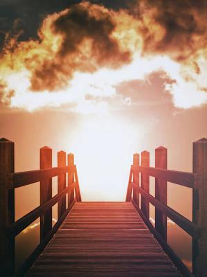 Photograph - Into The Sun by Wim Lanclus