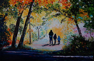 Painting - Into The Sunlight by Valerie Curtiss