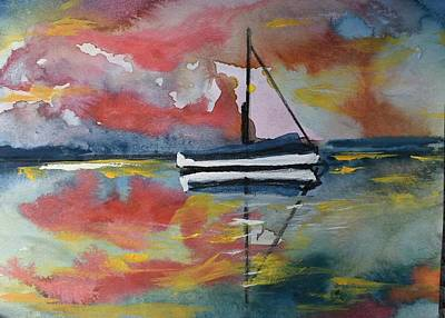 Painting - Into The Sunset by Susan Snow Voidets