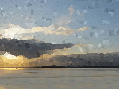 Digital Art - Into The Sunset by Tim Allen