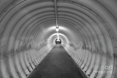 Symmetry Photograph - Into The Tunnel by Juli Scalzi