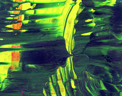 Large Abstract Art Painting - Into The Unknown - Green And Yellow Abstract Art by Modern Art Prints