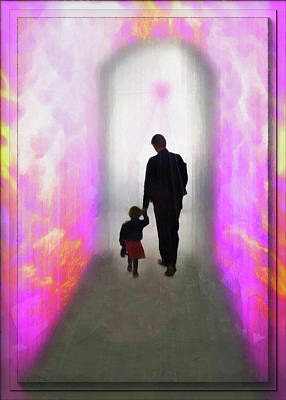 Father And Daughter Mixed Media - Into The Unknown Together by Mario Carini