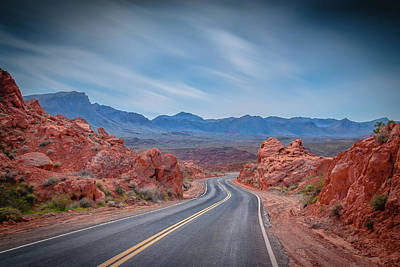 Into The Valley Of Fire Art Print