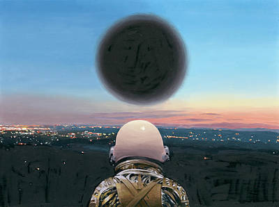 Astronaut Painting - Into The Void by Scott Listfield