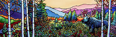 Wall Art - Painting - Into The Wild by Alison Newth