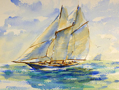 Painting - Into The Wind by Carl Whitten