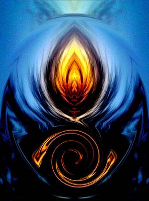 Higher Selves Digital Art - Into The Within by MeMi Renee