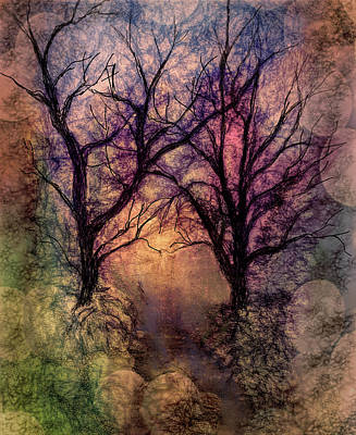 Watercolor Digital Art - Into The Woods by Annette Berglund
