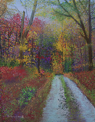 Pastel - Into The Woods by Denise Wagner