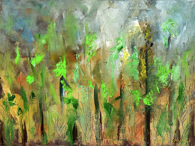 Painting - Into The Woods by Gina De Gorna