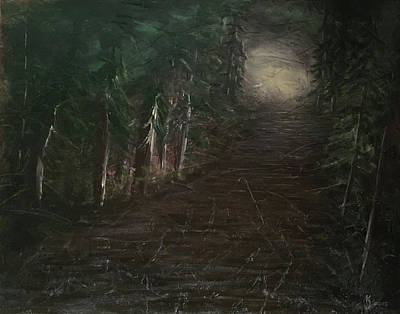 Painting - Into the Woods by KJ Burk