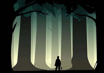 Into The Woods Print by Nestor PS