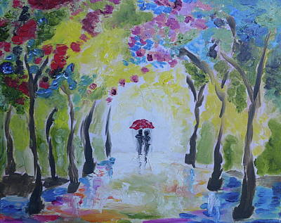 Wall Art - Painting - Into The Woods by Tessa Lang