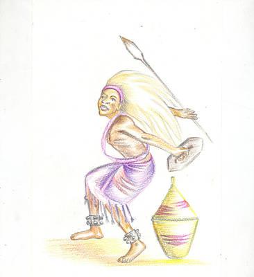 Art Print featuring the painting Intore Dance 2 From Rwanda by Emmanuel Baliyanga
