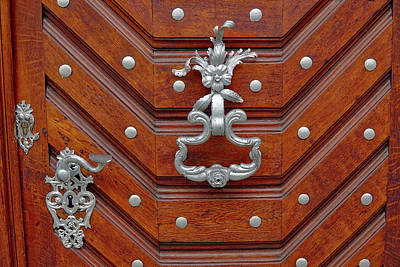 Photograph - Intricate Door Hardware In Prague by Richard Rosenshein