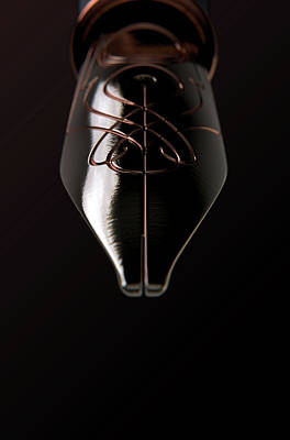 Calligraphy Digital Art - Intricate Fountain Pan Nib by Allan Swart