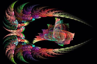 Pearlescent Digital Art - Pearl In The Shell by Ivanoel Art