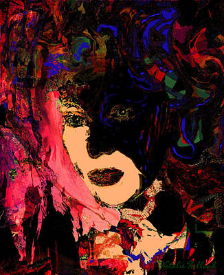 Mixed Media - Intriguing Woman by Natalie Holland