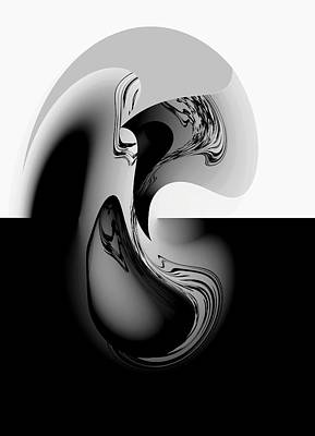 Introspection Digital Art Art Print