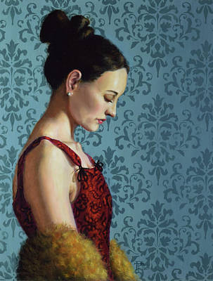 Woman Wall Art - Painting - Introspection by Philip Taylor
