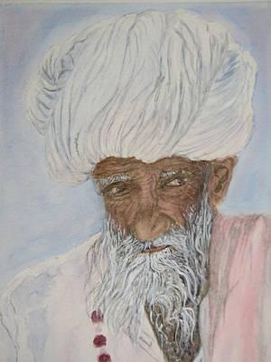 Sadhu Painting - Introspection by Tim Bhajjan