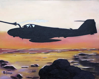 Painting - Intruder Refueling by Dean Glorso