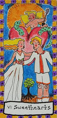 Archetype Drawing - Intuitive Catalyst Card - Sweethearts by Corey Habbas