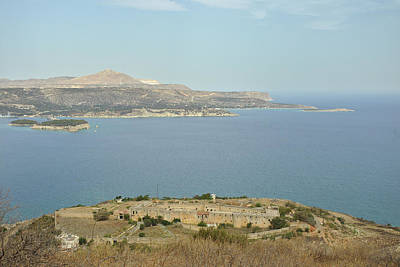 Photograph - Intzedin Fort And Souda Bay In Crete, Greece by Paul Cowan