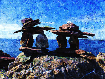 Photograph - Inukshuk by Zinvolle Art