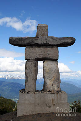 Photograph - Inuksuk At Whistler by Karen Adams