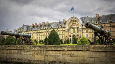 Invalides And Cannon Paris Print by Joan Carroll
