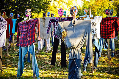 Photograph - Invasion Of Scarecrows by Colleen Kammerer