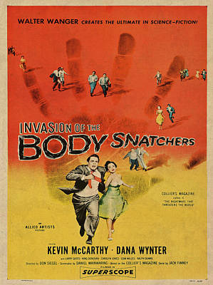 Invasion Of The Bodysnatchers Vintage Movie Poster Art Print