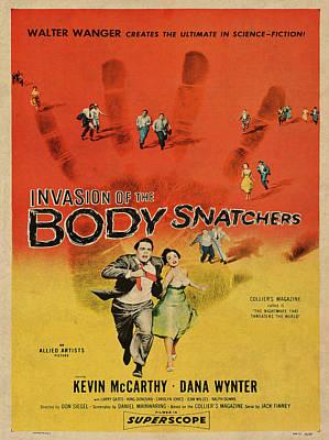 Invasion Of The Bodysnatchers Vintage Movie Poster Art Print by Design Turnpike