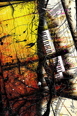 Cello Wall Art - Digital Art - Invention In A Minor by Gary Bodnar