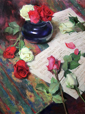 Red Rose Wall Art - Painting - Invention No. 1 by Anna Rose Bain