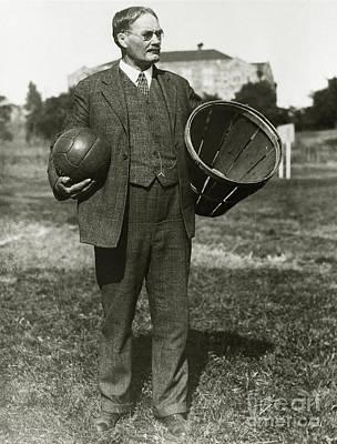 1891 Photograph - Inventor Of Basketball by Jon Neidert