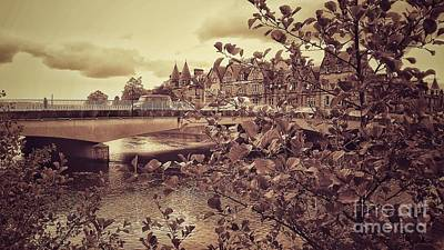 Photograph - Inverness Bridge In Sepia by Joan-Violet Stretch